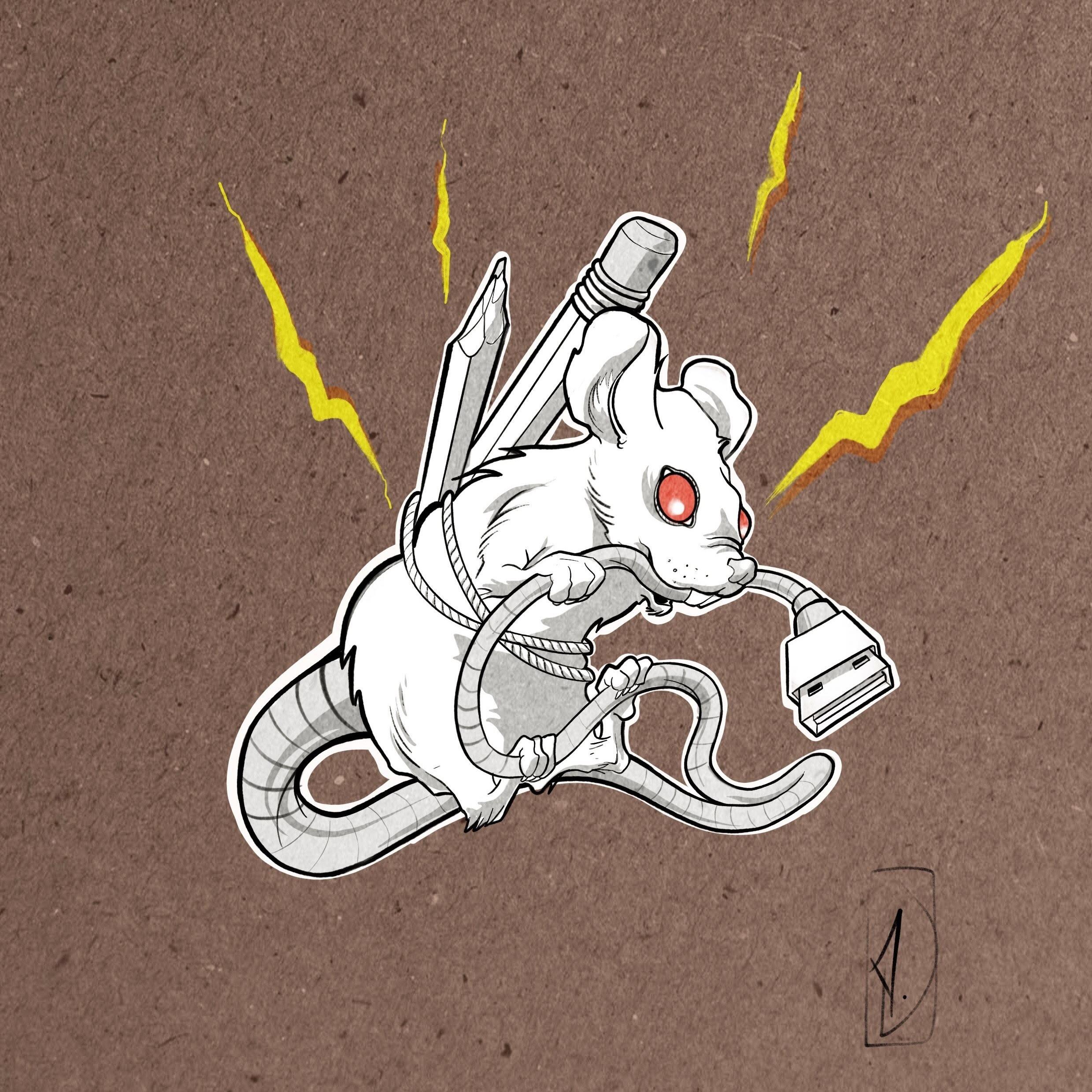 flash tattoo mouse USB souris lyon corbas