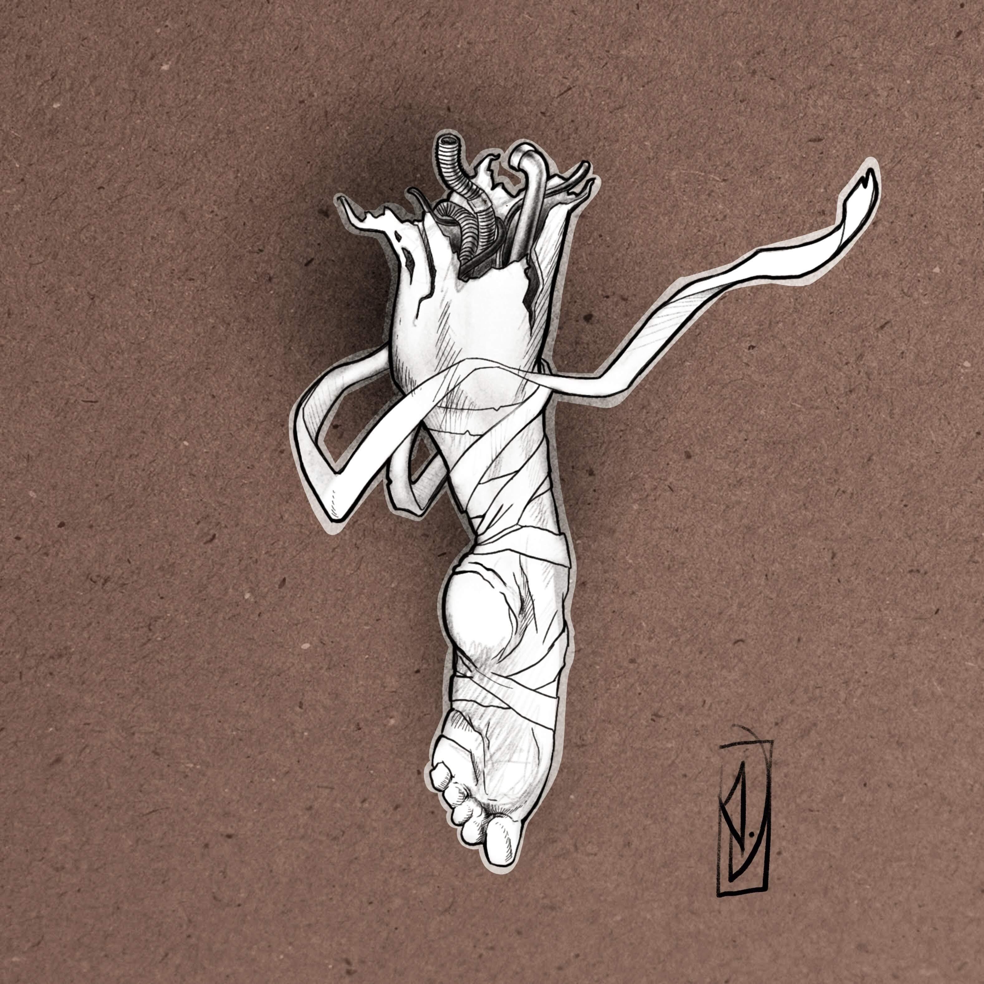 flash tattoo foot dancer pied danseur lyon corbas