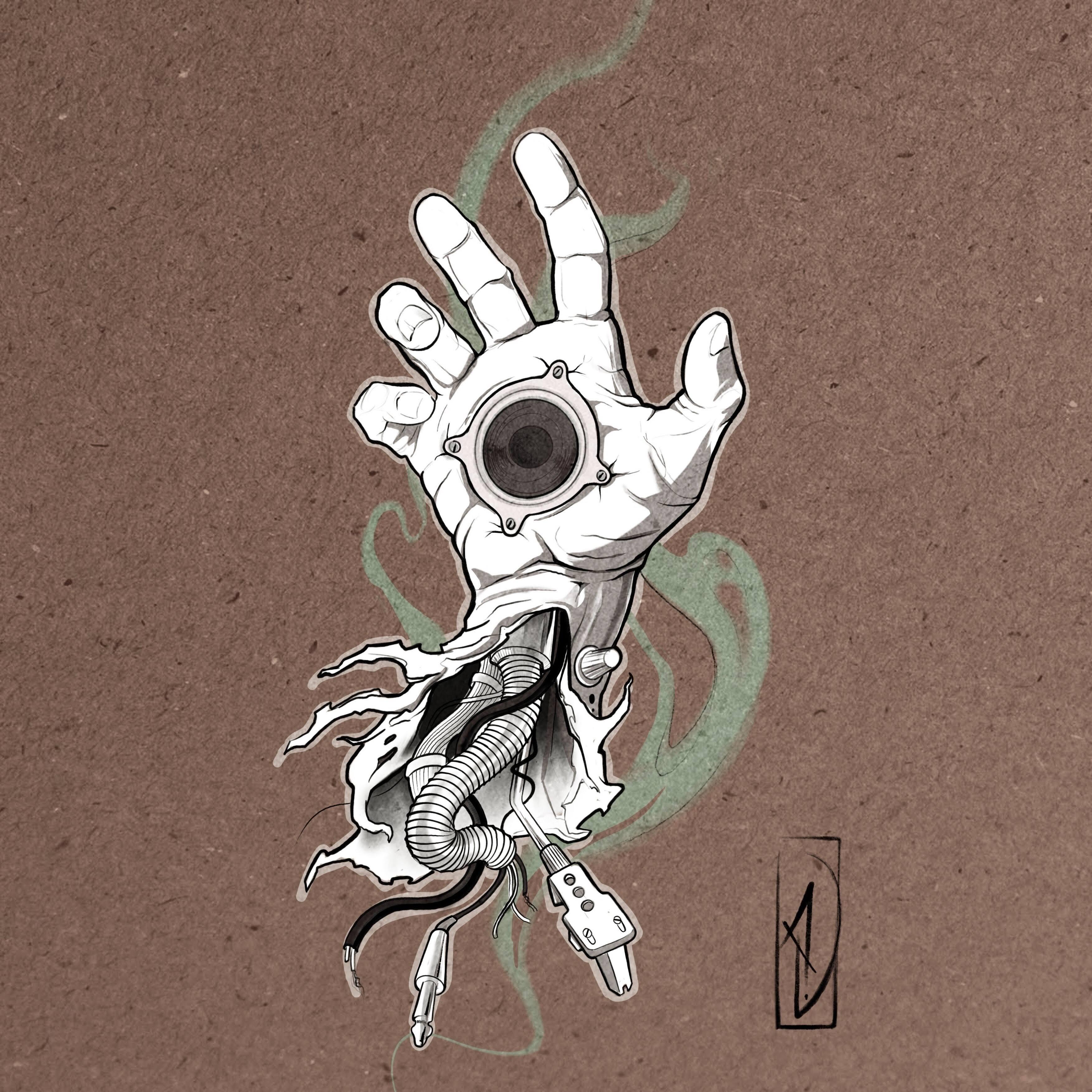 flash tattoo hand beatmaker lyon vernaison