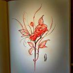 sketch floral